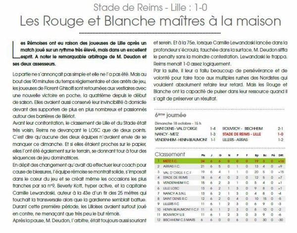 2015 D2 Féminines J06  REIMS LILLE 1-0, le 18/10/2015