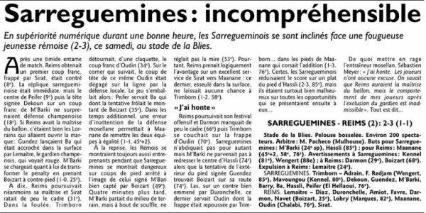 2015 CFA2 J07 SARREGUEMINES REIMS 2-3, le 31/10/2015
