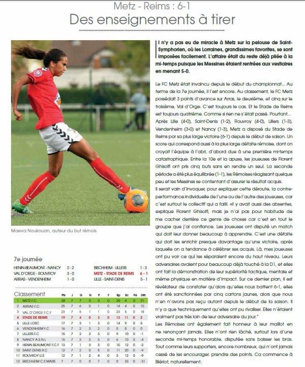 2015 D2 Féminines J07 METZ REIMS 6-1, le 01/11/2015