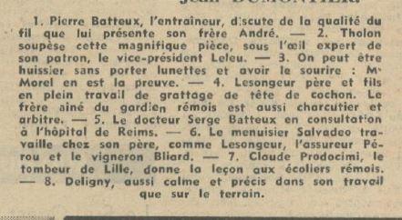 1953 CFA REIMS déja qualifié pour le tournoi final, le 06/04/1954