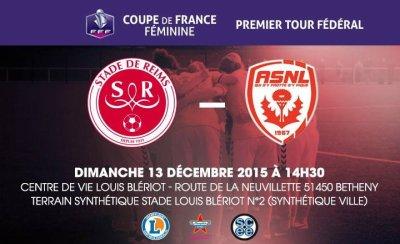 2015 CDF Féminines 1er tour fédéral,  REIMS NANCY 0-1, le 13/12/2015