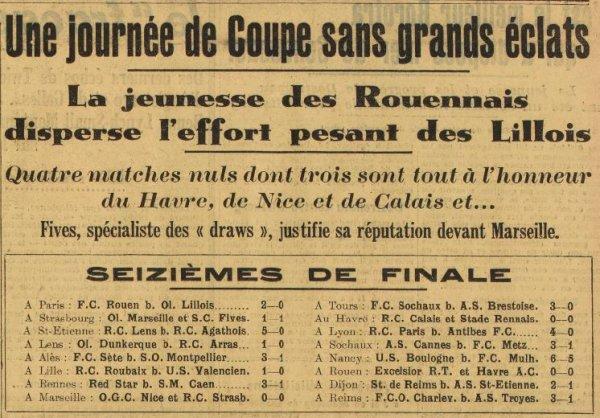 1936 CDF16 REIMS SAINT ETIENNE 2-1, le 17/01/1937