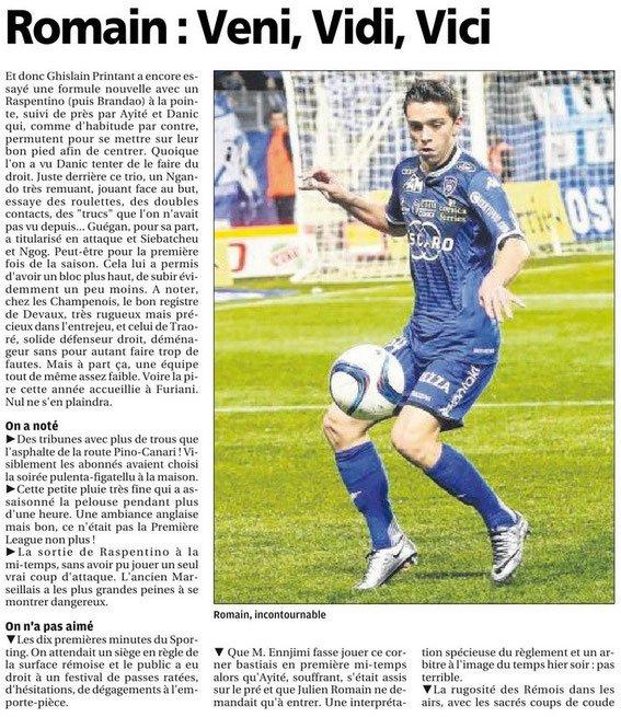 2015 Ligue 1 J19 BASTIA REIMS 2-0 , le 19/12/2015