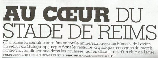 2015 France Football : Au COEUR du Stade de Reims ( suite)  le 09/12/2015