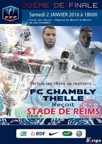 2015 CDF32 CHAMBLY REIMS, l'avant match , le 01/01/2016