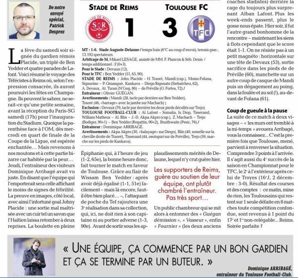 2015 Ligue 1 J20 REIMS TOULOUSE 1-3 , le 09/01/2016