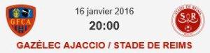2015 Ligue 1 J21 GAZELEC REIMS, L'avant match, le 15/01/2016