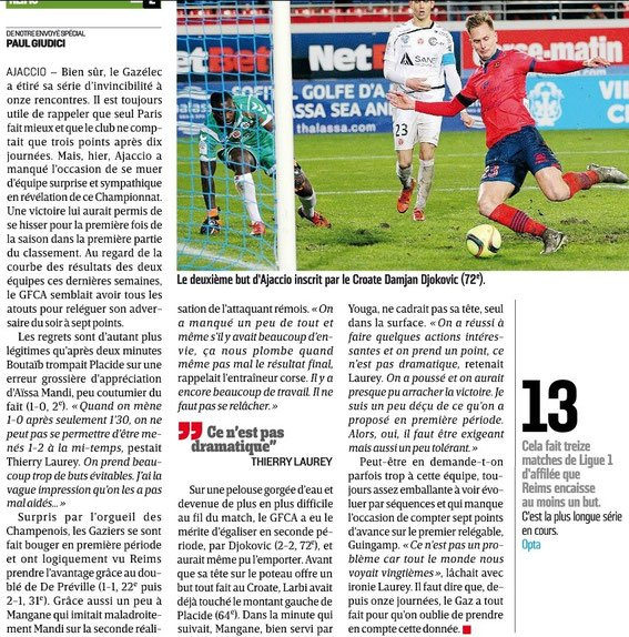2015 Ligue 1 J21 GAZELEC REIMS 2-2, les + du blog, le  18/01/2016