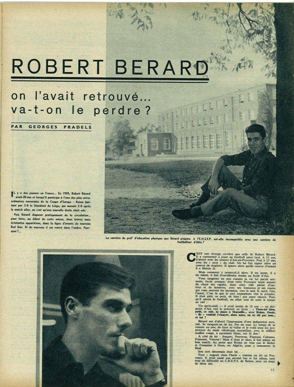 1961 D1 Pour BERRARD, la vie continue, le 15/01/1961