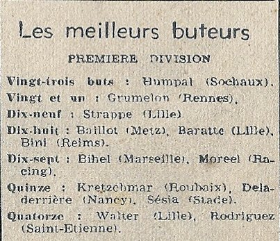 1948 D1 J28 ROUBAIX REIMS 1-5, le 13/03/1949