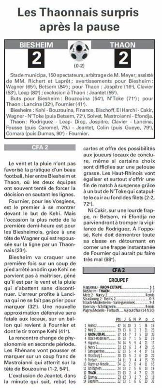 2015 CFA2 J14 STRASBOURG REIMS 0-5, le 30/01/2016