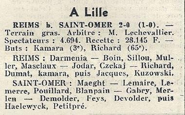1969 CDF32 REIMS SAINT OMER 2-0, le 08/02/1970