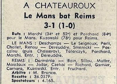 1969 CDF16 LE MANS REIMS 3-1, le 01/03/1970