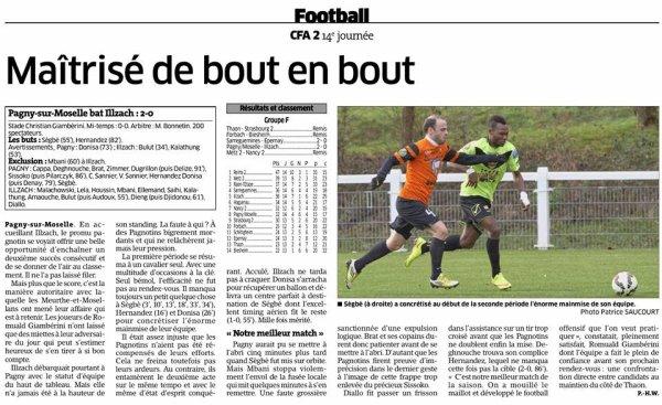 2015 CFA2 MAJ du Calendrier , Groupe F, le 09/02/2016