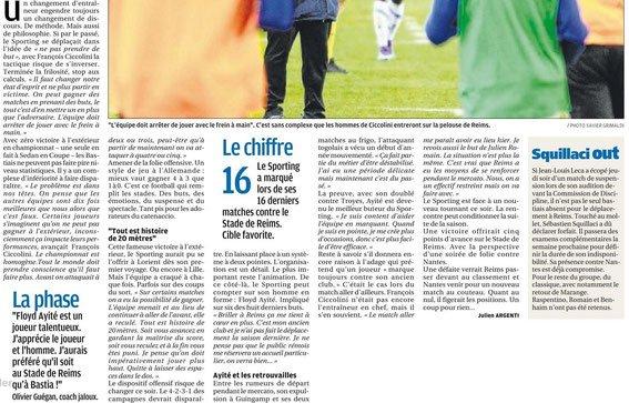 2015 Ligue 1 J26 REIMS BASTIA , l'avant match, le 12/02/2016