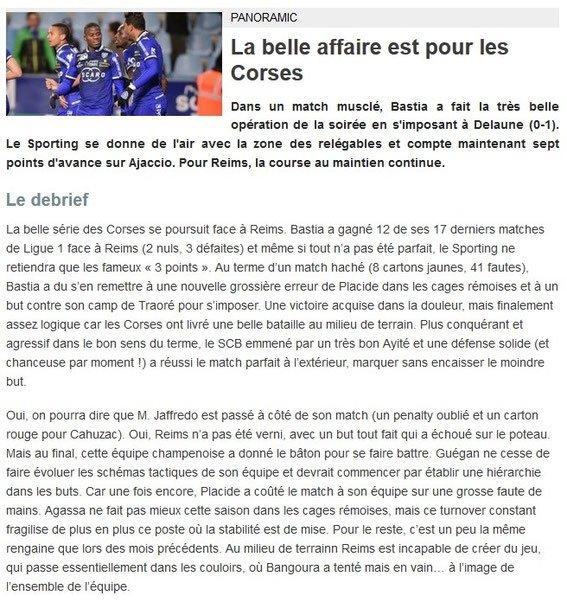 2015 Ligue 1 J26 REIMS BASTIA 0-1, le 13/02/2016