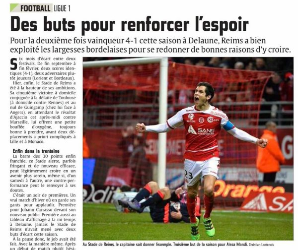2015 Ligue 1 J28 REIMS BORDEAUX 4-1, le 27/02/2016