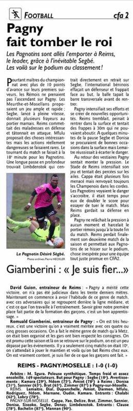 2015 CFA2 J17 REIMS PAGNY sur MOSELLE 0-1, le 06/03/2016