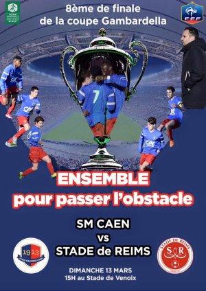 2015 GAMBARDELLA 8ème CAEN REIMS , l'avant match, le 12/03/2016