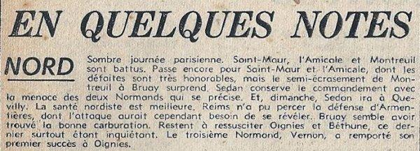 1951 CFA J03 ARMENTIERES REIMS 0-0, le 16/09/1951
