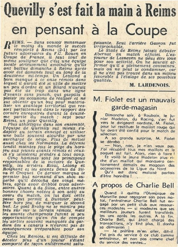 1951 CFA J18 REIMS QUEVILLY 1-2, le 17/02/1952