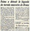 1951 CFA J19 BRUAY REIMS 0-2, le 02/03/1952