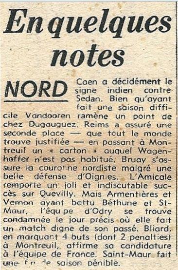1951 CFA J20 REIMS MONTREUIL 6-0, le 09/03/1952