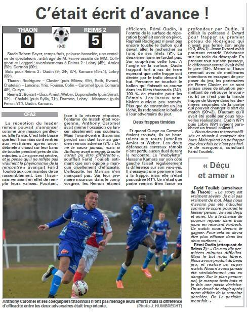 2015 CFA2 J18 THAON REIMS 0-5, le 19/03/2016