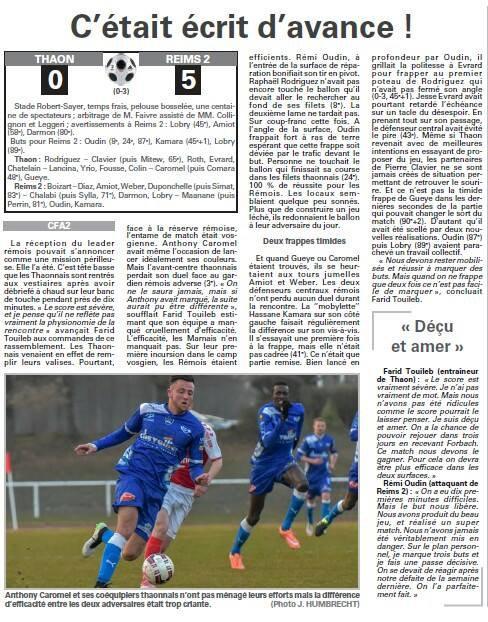 2015 CFA2 J18 THAON REIMS 0-5, le 19/03/2016
