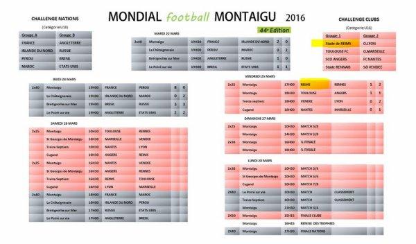 2015 U16  MONTAIGU : REIMS , de la poule à la finale du 25/03 au 27/03/2016