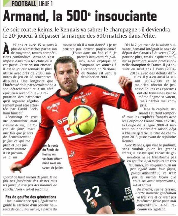 2015 Ligue 1 J32 RENNES REIMS, L'avant match, le 01/04/2015