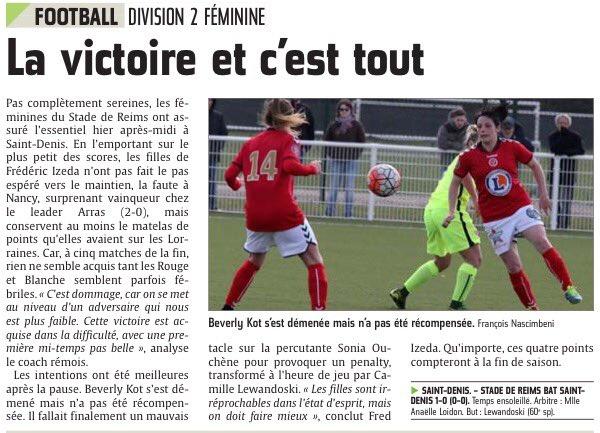 2015 D2 Féminines J18 SAINT DENIS  REIMS 0-1,  le 03/04/2016