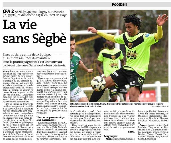 2015 CFA2 J19 REIMS SARREGUEMINES, L'avant match, le 03/04/2016