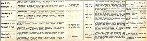 1964 D2 J22 CHERBOURG REIMS 0-0, le 28/02/1965