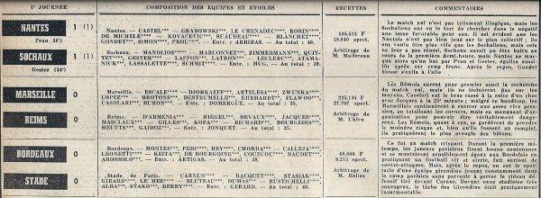 1966 D1 J07 MARSEILLE REIMS 0-0, le 17/09/1966