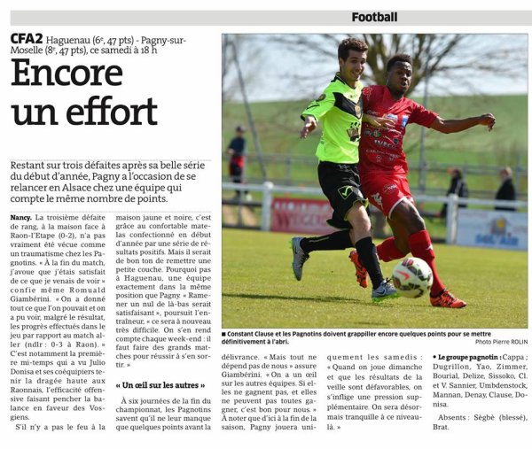 2015 CFA2 J21 SCHILTIGHEIM REIMS, l'avant match, le 16/04/2016