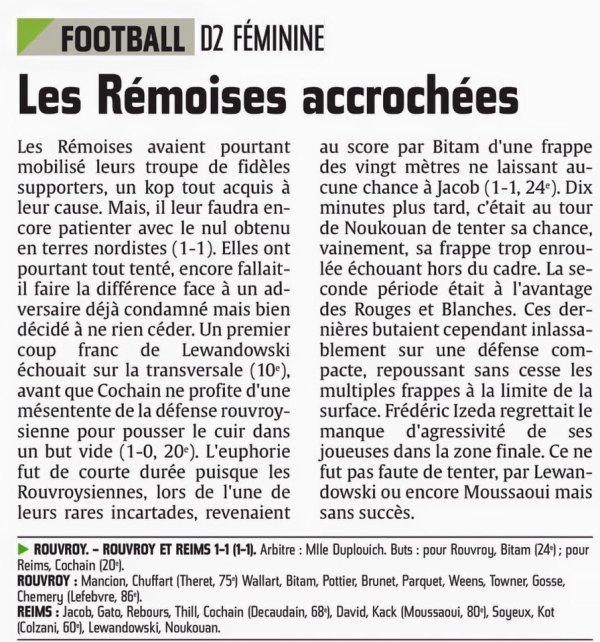 2015 D2 Féminines J20 ROUVROY  REIMS 1-1, le 24/04/2016