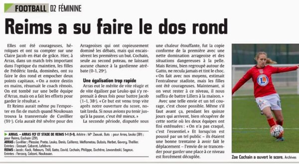 2015 D2 Féminines J21 ARRAS REIMS 1-1, le 08/05/2016