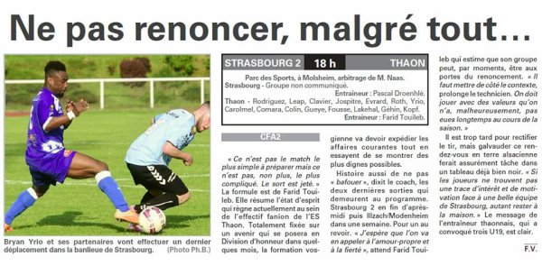 2015 CFA2 J25 METZ REIMS, l'avant match, le 28/05/2016