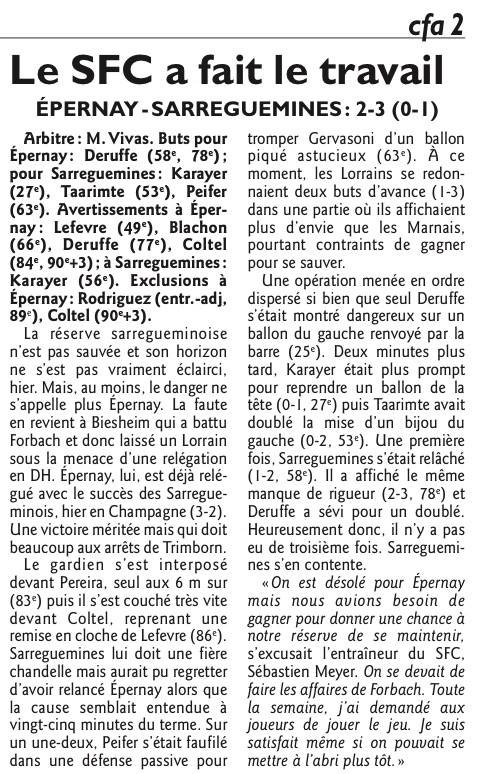 2015 CFA2 J25 METZ REIMS 2-2, le 28/05/2016