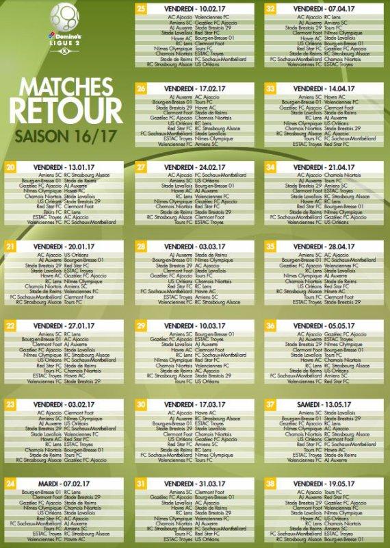 2016 Ligue 2 : le calendrier dévoilé, le 06/06/2016