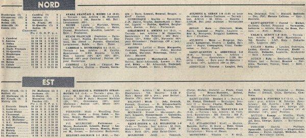 1965 CFA J19 REIMS STADE FRANCAIS 0-1, le 06/03/1966