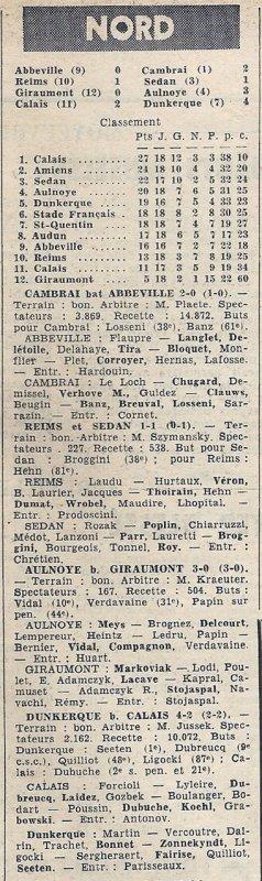 1965 CFA J15 ( Joué après J18) REIMS SEDAN 1-1, le 27/02/1966