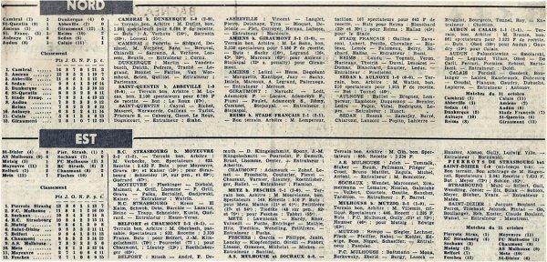 1965 CFA J08 STADE FRANCAIS REIMS 1-2, le 24/10/1965