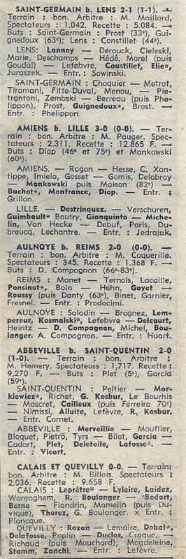 1969 CFA J04 REIMS AULNOYE 0-2, le 21/09/1969