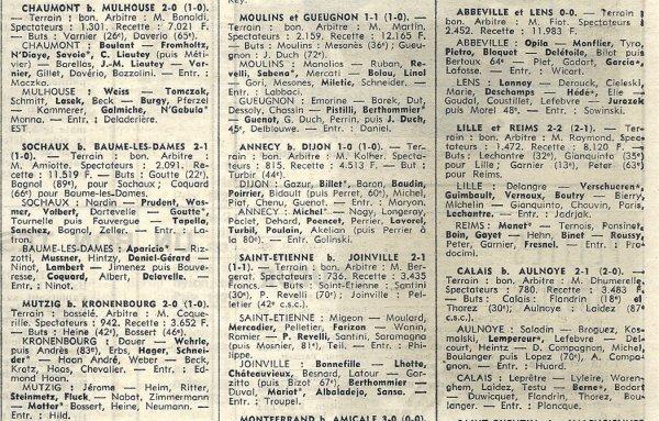 1969 CFA J05 LILLE REIMS 2-2, le 28/09/1969