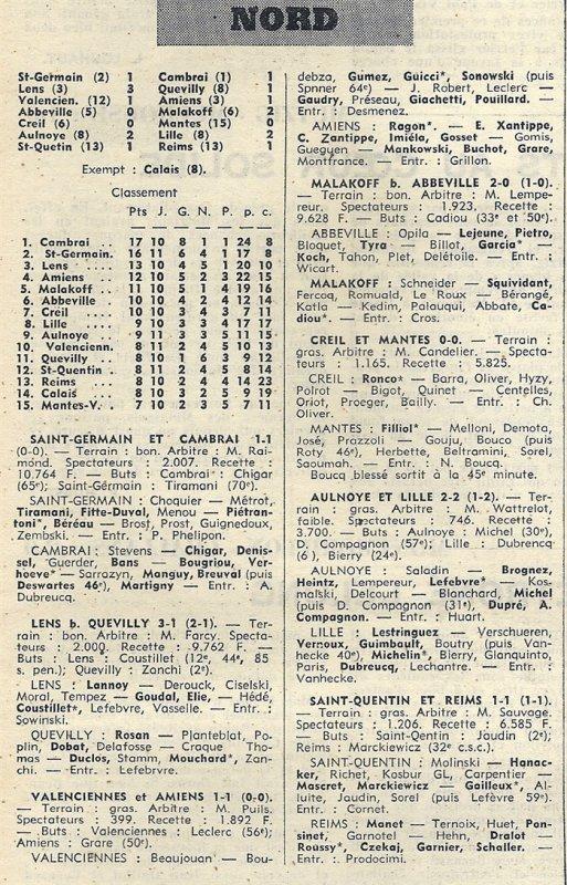 1969 CFA J11 SAINT-QUENTIN REIMS 1-1, le 16/11/1969