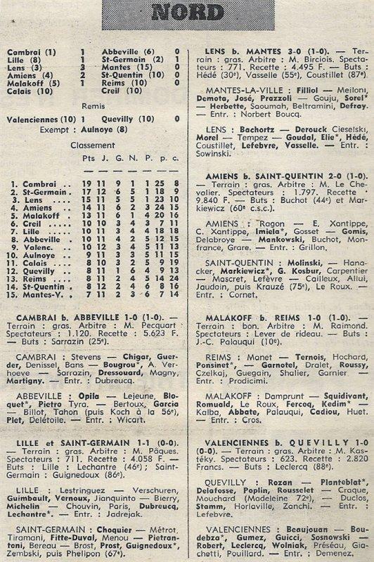 1969 CFA J12 REIMS MALAKOFF 0-1, le 30/11/1969