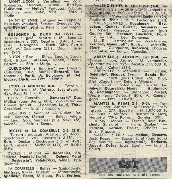 1969 CFA J15  REIMS MANTES la VILLE 1-2, le 28/12/1969