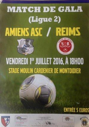 2016 AMICAL AMIENS REIMS , l'avant match, le 30/06/2016